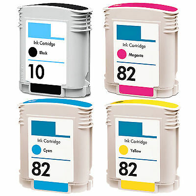4PK ink cartridges For HP10 /82 C4844 C4911 C4912 C4913 Designjet 800 HP82 HP 10
