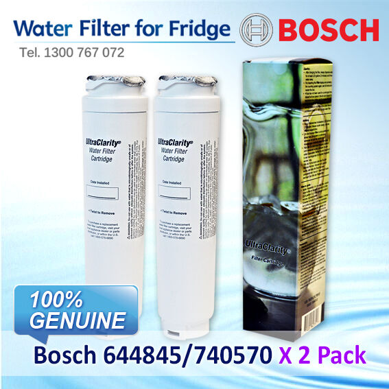 2X 740570 644845 9000077104 BOSCH REFRIGERATOR WATER FILTER for model KAD92AI20A