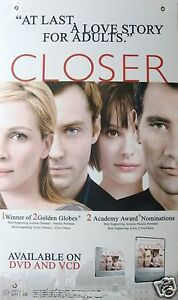 Closer video movie poster julia roberts jude law natalie portman image is loading closer video movie poster julia roberts jude law publicscrutiny Choice Image