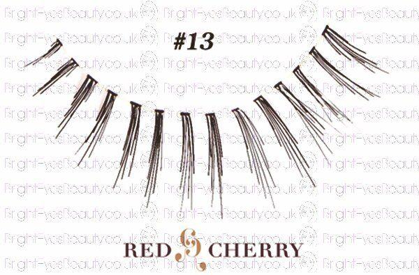 style #13 Red Cherry 100% Human Hair Ultimate False lashes / Fake Eyelashes
