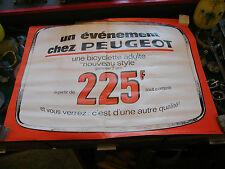 Affiche Peugeot Bicyclette Adulte 225 F 60 sur 80 cm