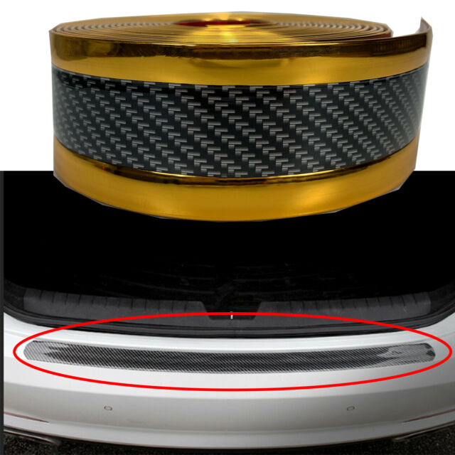 3D Gold Carbon Fiber Vinyl Decal Door Sill Step Scratch Protect Stickers J3