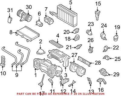 For BMW Genuine HVAC Air Inlet Door Actuator 64116942994