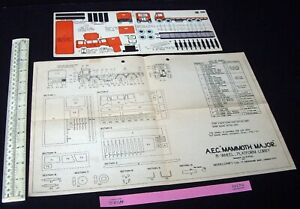1940s-Modelcraft-Micromodels-AEC-Mammoth-Major-Plan-Matching-J6-Cut-Out-Card