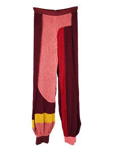 Affusolato Blocco Pantaloni Roksanda Colore Di Pieghe Crepe Plissé pCqXwd