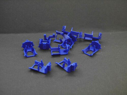 1:87 Herpa EM7023 10x Registerkupplung blau  für Umbau Eigenbau