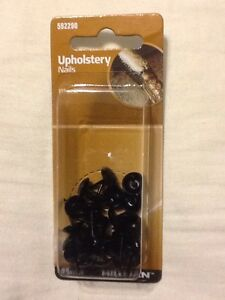Hillman-25-piece-Upholstery-Nail-Black-Smooth-Finish-592290-NEW