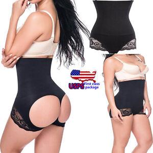 81b6bba4b80a1 Women High-waist Trainer Butt lift Underwear Tummy Control Booty ...