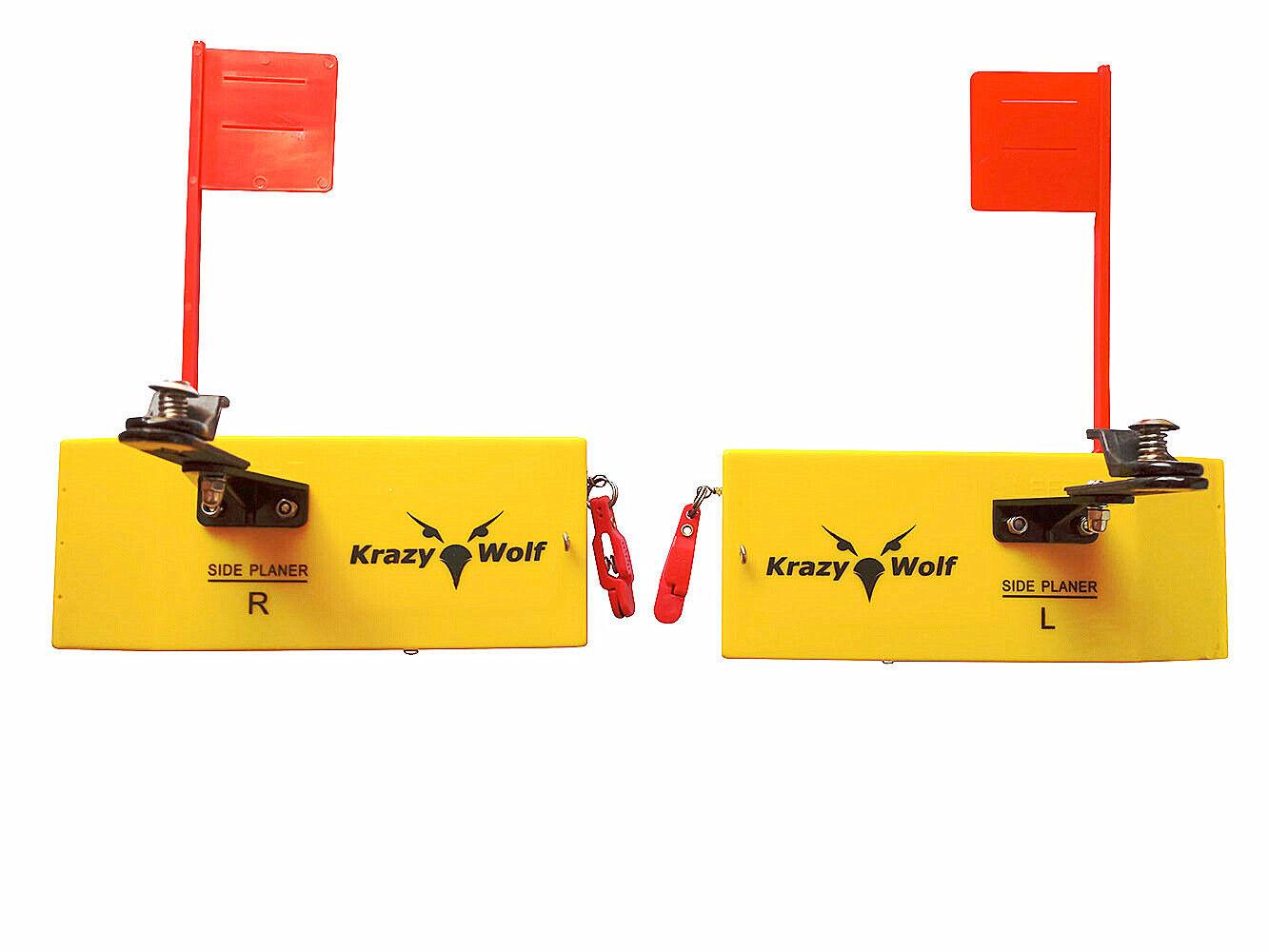 2Pcs Planer Board Spring Flag  system Left&Right,Medium,L8 xW3  similar opti  sell like hot cakes