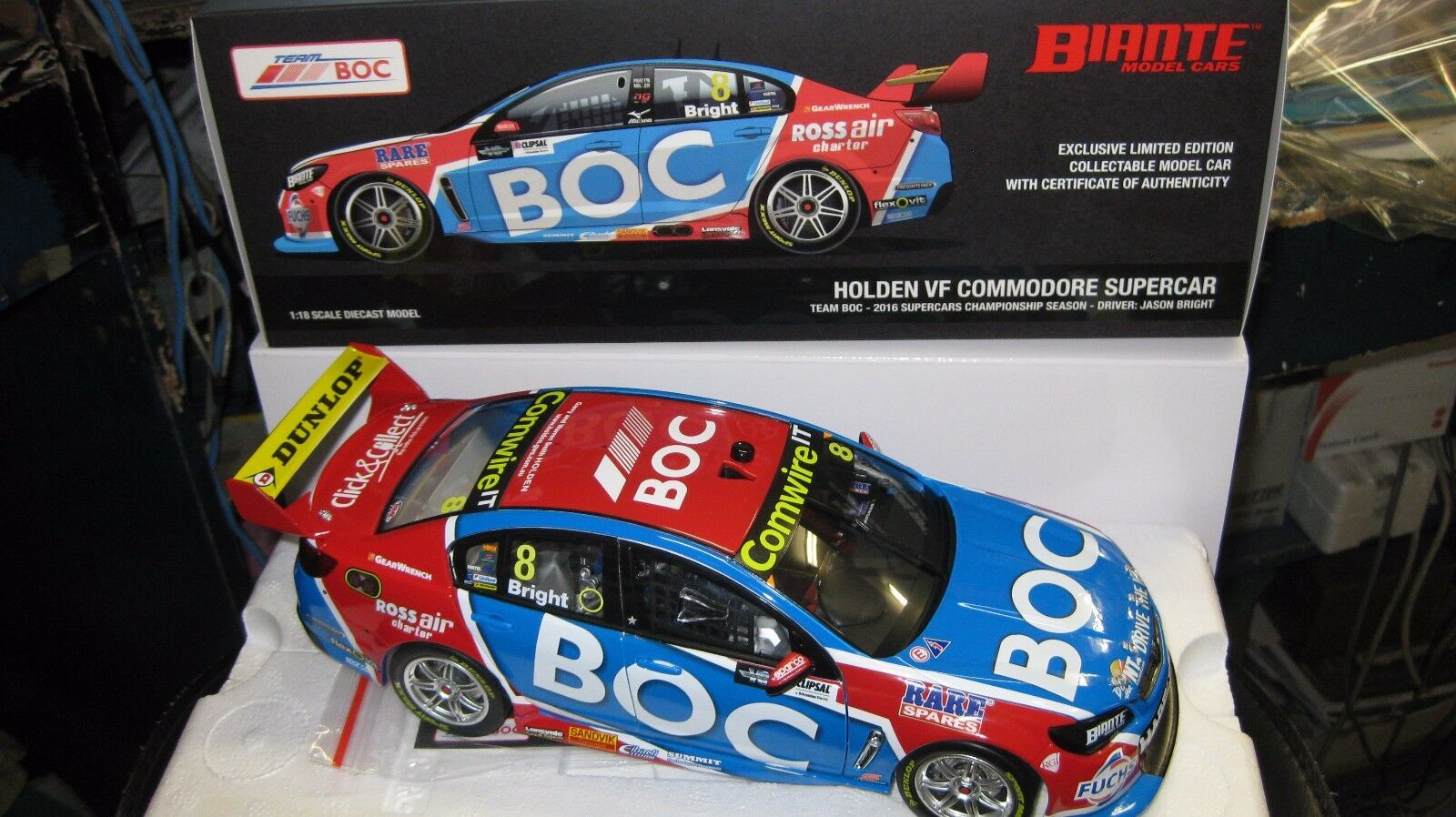 BIANTE 1  18 JASON BRICht HOLDEN VF COMMODORE 2016 säsong V8 SUPERAR B18H16C
