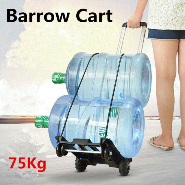 Portable Folding Luggage Shopping Cart Hand Trolley Wheel Truck Heavy Duty 75kg