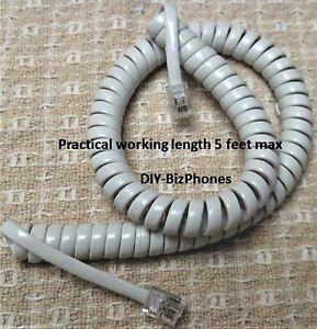 Off White 9 Ft Handset Cord Avaya Phone Partner 6D 18D 34D Euro Series 2 Coil