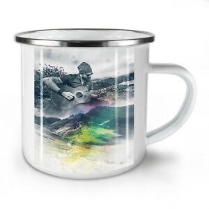 Guitar Musician Art NEW Enamel Tea Mug 10 oz | Wellcoda
