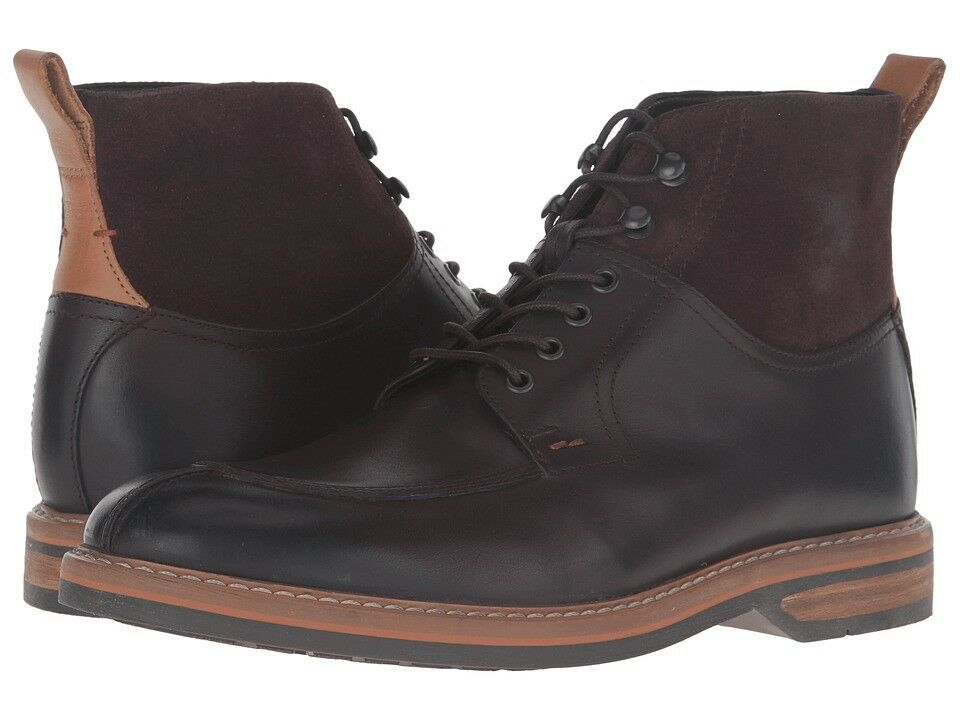 Clarks Mens Pitney Hi Brown Leather & Suede Ankle Boots &10G