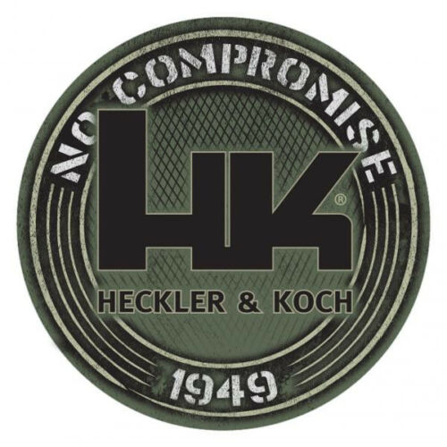 "HK Tan Decal 1949 Sticker Heckler Koch /""No Compromise/"" HK416 MR556 MR762 P30 USP"