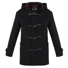 "Mens GLOVERALL Black Mid Duffle Coat 42"" RRP £375 CS074 06 J"