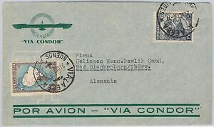 Airmail Cover Via Condor To Germany 21.04.1936 As Effectively As A Fairy Does Postal History Reasonable Argentina