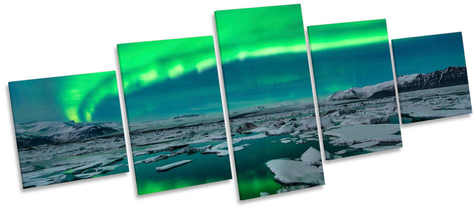 Northern Lights Space Night  MULTI CANVAS WALL ART Picture Box Frame