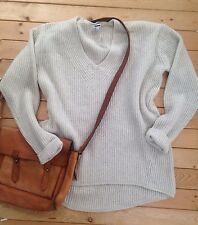 N4 NwT Madewell Vneck Sweater Jcrew Pullover Knit $98 Merino Wool  S Oatmeal NEW