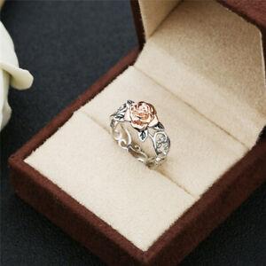 Fashion-Women-Ladies-Lovers-Rose-Flower-Engagement-Ring-New