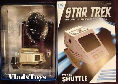 en Enterprise NCC-1701-D Eaglemoss Star Trek Type-7 shuttle #7 from the U.S.S