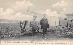 CPA-SEMAINE-LYONNAISE-D-AVIATION-1910-L-AVIATEUR-MOLON-SUR-BLERIOT-MOTEUR-ANZANI