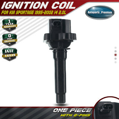 2x Ignition Coils Pack for Kia Sportage I4 2.0L 1995-2002 0K013-18-100 UF-283