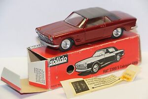 Solido-Ref-133-Fiat-2300-S-Cabriolet-Ghia-Red-Mint-in-Box-France-1-43-Diecast