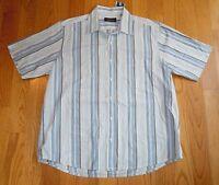 Lk Mens Authentic Tasso Ella Blue Short Sleeve Xl Shirt $44 Striped