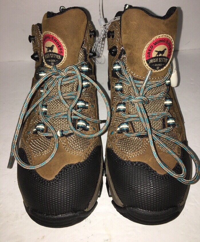 Red Wing Irish Setter Women's Work Hiker Boot Safety Toe size 6 SHIP N 24