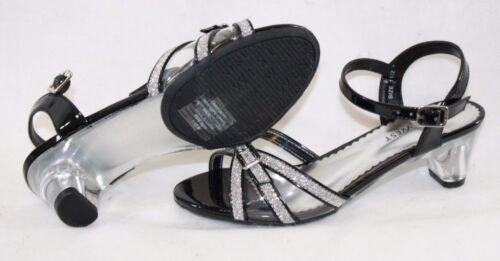 NEW Girls Youth NINE WEST Fairytale 2 Black Silver Glitter Heels Dress Up Shoes