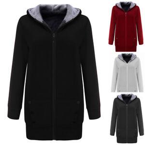 Women-Winter-Warm-Fleece-Thicker-Coat-Hoodie-Jacket-Outwear-Sweatshirt-Overcoat