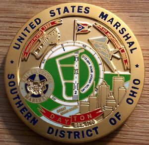 Details about US Marshals Service Southern District of OHIO - Dayton GOLD  challenge coin