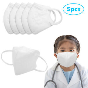 5 PCS KN95 Masks Air Purifying Dust Pollution Vented Respirator Face Mask F KIDS