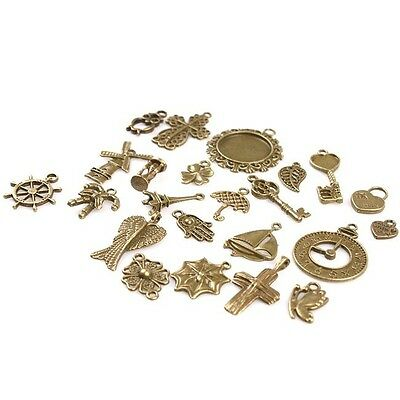 46x 142743 Charms Wholesale Assorted Vintage Bronze Alloy Pendants Findings