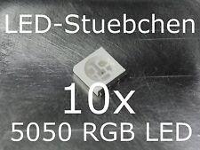 10x 5050 RGB SMD LED PLCC6 3-Chip Gurtabschnitt