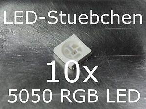 50x 5050 warmweiss SMD LED PLCC 6 3-chip cinturón sección