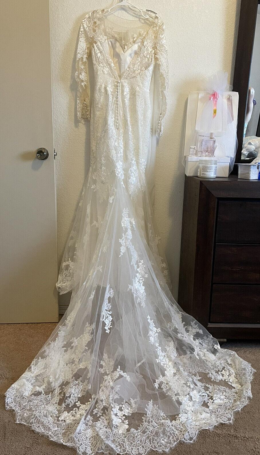 *New* Bridal Novias White Wedding Dress