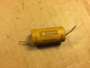 Vintage-Pyramid-25-uf-25v-Paper-Capacitor-Guitar-Tube-Amp-Cap-1950s-Tynee-Dry