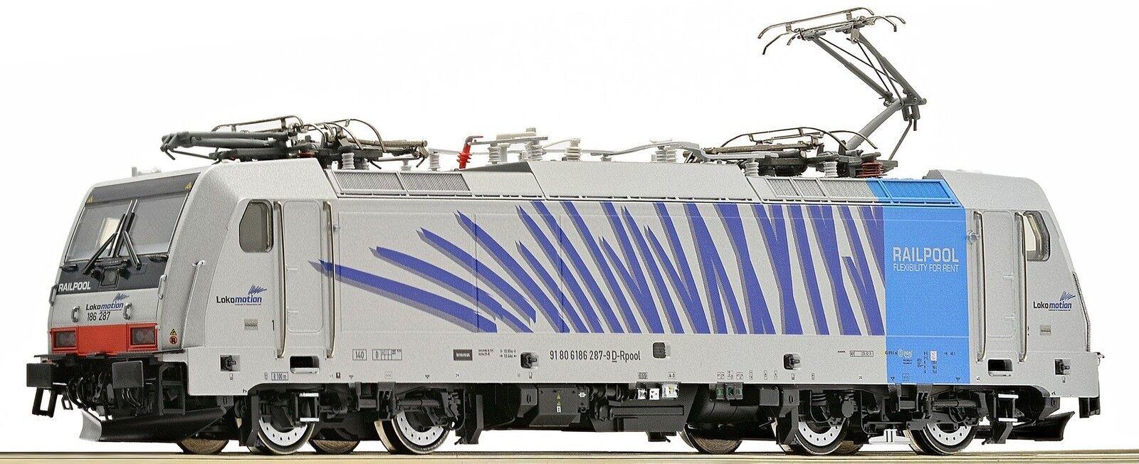 ROCO 79654, elok serie siano 186, RAILPOOL  Zebra , AC, Nuovo, Confezione Originale