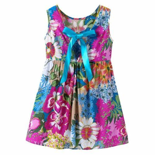 Kids Birthday Party Dress Girl Summer Princess V-back Dresses Children Clothes
