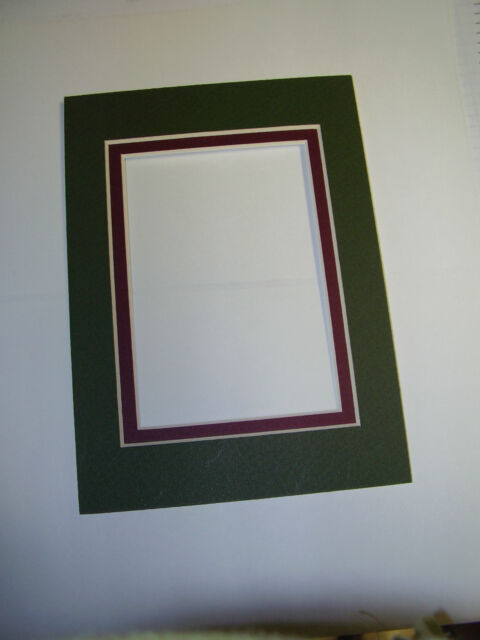 Picture Frame Double Mats 11x14 For 8x10 Photo Forest Green With