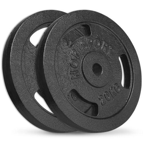 40 KG Disques d/'haltères 2x20 kg ø30mm en fonte poids haltères set