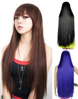 """Fashion Women's Wigs Full Long Straight Wig Cosplay Costume Wig 32""""/40"""""""