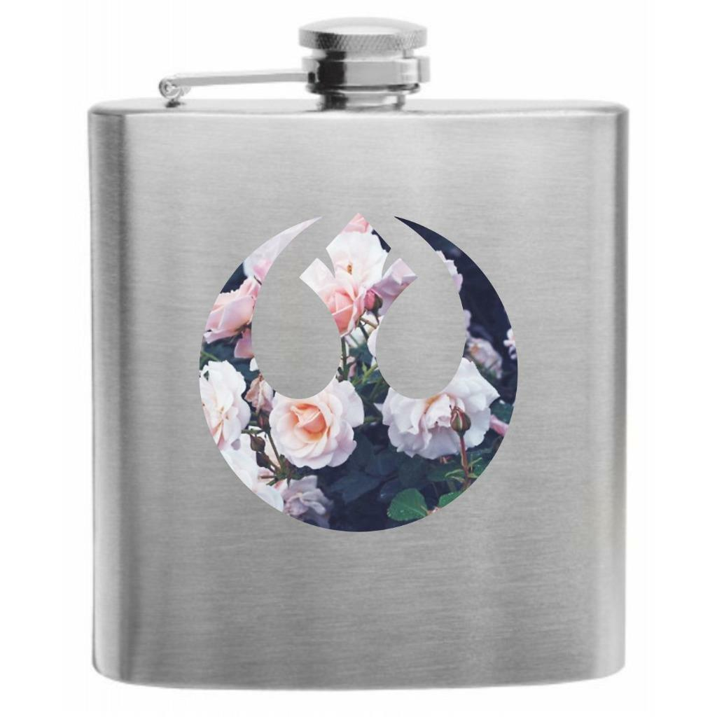 6oz Stainless Steel Hip Flask Angel of the North Design in Gift Box