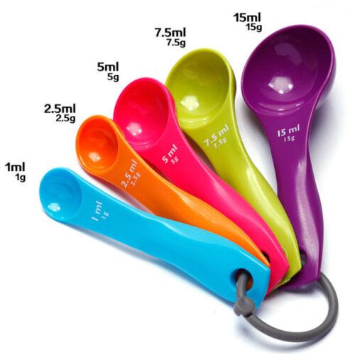 5X Messlöffel Kunststoff Teelöffel Schaufeln Tablespoons Utensil QP