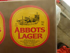 VINTAGE AUSTRALIAN BEER LABEL. CARLTON & UNITED - ABBOTS LAGER 750ML 72AL