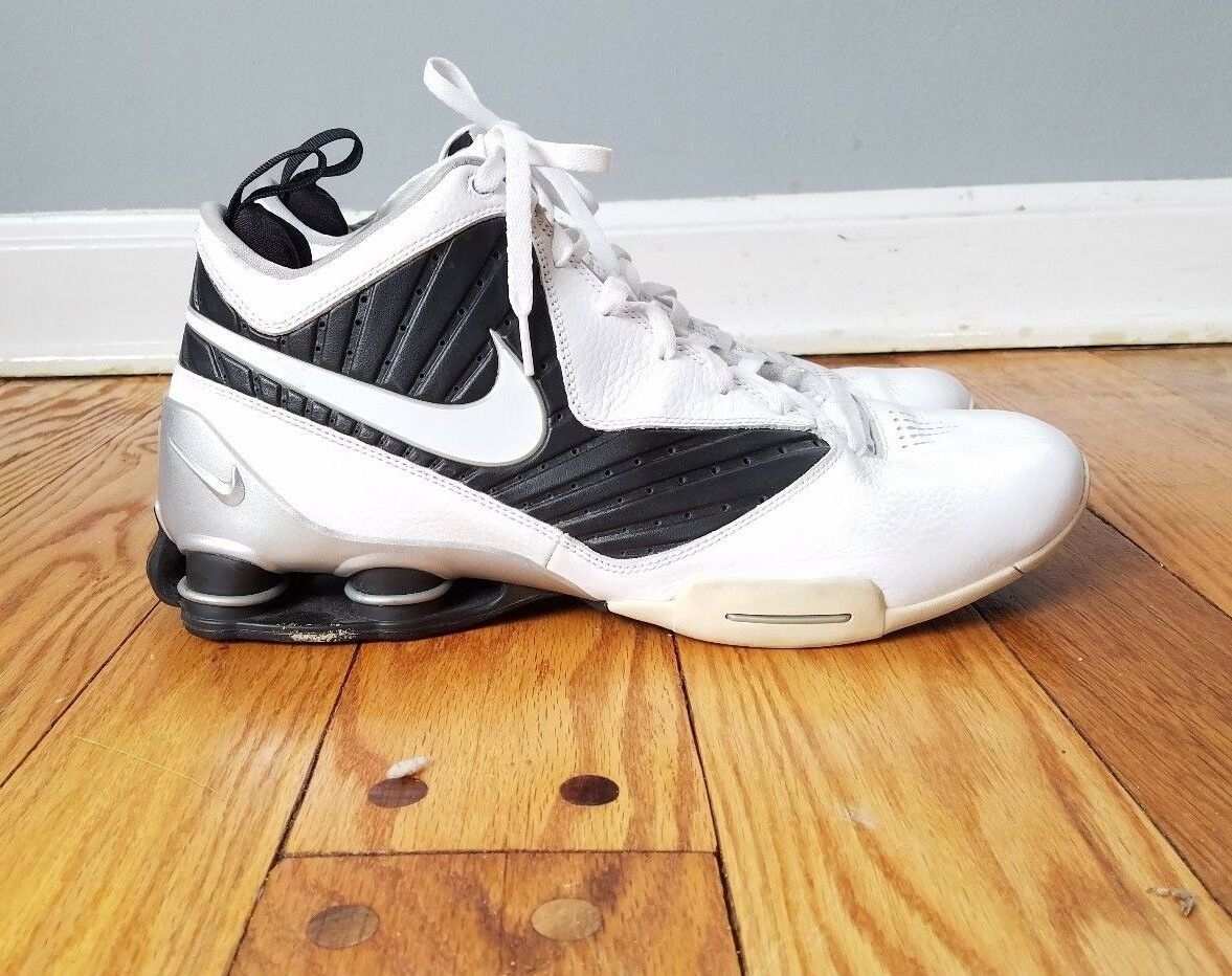 Nike Shox 407628-100 Mens Basketball high top Sneakers Athletic Shoes Price reduction