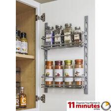 Door Mount Kitchen Cabinet Spice Rack Holder, Jar Rack, Mountable, Chrome Vanity