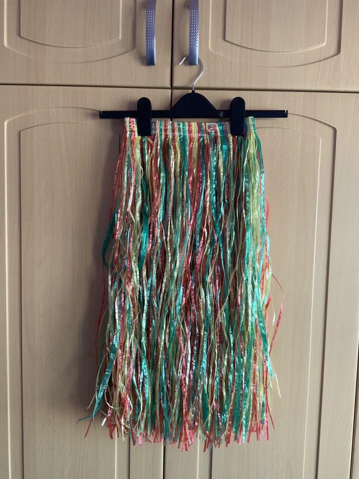 Children's Hawaiian Hula Straw Skirt Fancy Dress